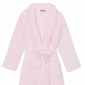 Victoria's Secret Intimates & Sleepwear - M/L VS pink Cozy Sherpa Long Hooded hoodie Robe